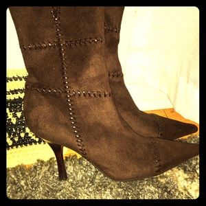Suede Stitched BCBG Boots